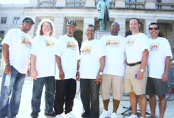 Pro-Love March June 2011 Stephen White, Greg Kelly, ,Carlton Pearson, Markel Hutchins, D.E. Paulk, David Ault (left to right)
